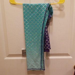 NWT Disney Mermaid leggings XL
